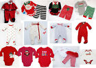 Внешний вид - NWT Baby Boys Girls Outfit Christmas Santa Bodysuit Sleeper Newborn 3m 6m NEW