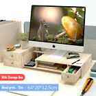 Office Desk Monitor Computer Organizer Stand Desktop PC Tidy Storage Stationery