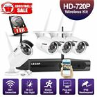 Wireless Security Camera System In/ Outdoor with 1TB HDD WiFi NVR 720P Camera MA