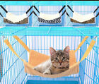 Cat Hammock Bed Hanging Pet Cage Window Mounted Dog Seat Perch Shelf Blanket