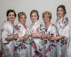 Non personalised floral satin 90cms or 110cms wedding Birthday Christmas robe