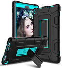For All-New Amazon Fire HD 8 8th 2018 Hybrid Stand Case Cover + Screen Protector