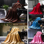 New Soft Warm Solid Winter Warm Rug Plush Fleece Blanket Throw Rug Sofa Bedding image