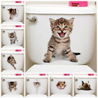 2019 Home Decor 3d Cat Bathroom Toilet Animal Wall Stickers Decals Vinyl Mural