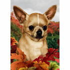 Welcome Chihuahua dog Garden Flag House Decor Yard Banner Double sided