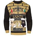 Adult New Orleans Saints Ugly Sweater Acrylic Hand Made Sweater