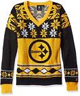 Klew Pittsburgh Steelers Women Big Logo Ugly Neck Sweater Klew Warm Comfortable