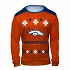 Men Long Sleeve Shirt Sublimated Holiday Ugly Sweater Design Polyester