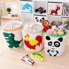 Cartoon Foldable Drawstring Dirty Clothes Laundry Basket Toy Collections Bag