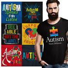 Disability Awareness Tee Shirt Graphic Autistic T-Shirt For Men Womens Gift T image