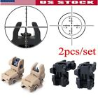Внешний вид - 2 pcs Front & Rear Backup Sights Tactical Hunting Foldable Flip-up Iron Sights