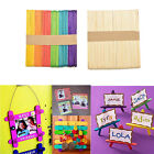 50/100Pcs Wooden Popsicle Sticks for Party Kids DIYCrafts Ice Cream Pop SY