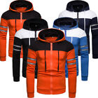 Men Winter Slim Fit Hoodie Hostile to Hooded Sweatshirt Coat Jacket Outwear Sweater US