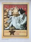 VTG Maxfield Parrish Art Print TONED Christmas Issue Magazine Cover SEE VARIETY