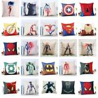 "18"" Marvel Cushion Cover Superhero Sofa Throw Pillow Case Linen Cojines Decor"