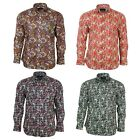 Valiant Mens Multi Coloured Paisley Long Sleeved Button Down Vintage Shirt 60s