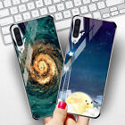 Tempered Glass Case For Samsung Galaxy S8 S9 Plus Silicone Stars Space Cover $3.29 USD on eBay