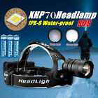 950000LM XHP70 LED Headlamp Zoom USB Rechargeable 18650 Headlight Super Bright