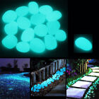 Внешний вид - 100 Pcs Glow in the Dark Garden Pebbles Glow Stones Rocks Walkways Garden Decor
