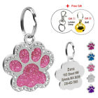 Внешний вид - Personalized Dog Tags Engraved Puppy Pet ID Name Collar Tag Bling Paw Glitter