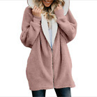 Women Teddy Bear Winter Warm Fluffy Coat Hooded Jacket Parka Cardigans Plus Size