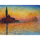 Dusk in Venice Claude Monet Canvas Painted Painting Wall Decor Multi Sizes #M100