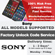UNLOCK CODE FOR SONY XPERIA C5 Ultra M5 J1 Compact MGS SO-04e Z3 Tablet Compact