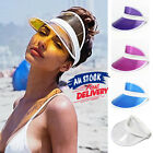 PVC empty top summer Sun Visor Poker Hat transparent Golf Dance Cap Fashion