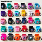 3D Disney Cute Cartoon Earphone Headset Silicone Charging Case For Apple Airpods