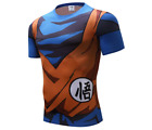 Goku dbz t-shirt amine comics jersey fitness dragon ball z shirts blue orange