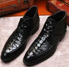 Wedding Men's Lace Up Low Heel Business Dress Formal Fashion Shoes Leather Boots