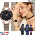 Women's Watch Starry Sky Diamond Dial Women Bracelet Watches Magnetic Stainless image