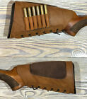 Leather Rifle Buttstock Cover Butt Stock Holder Cheek Rest - Real Suede PaddedAmmunition Belts & Bandoliers - 177884