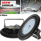 200W LED High Bay UFO Light Gym Factory Warehouse Industrial Shed Lighting