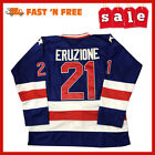 Mike Eruzione Miracle Ice Hockey Jersey Blue Fan Apparel Souvenirs Sports Mem
