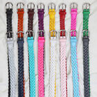Falari Women's Leather Hand Braided Belt Stainless Steel Buckle 6007-16 Colors