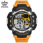 SMAEL Men Electronic Wristwatch for Boys Rubber Strap Sport Watch LED Watches image