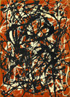 Jackson Pollock - Free Form HD Print on Canvas Large Wall Picture Multisize#M302