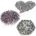 1440 Iron On Hot Fix Rhinestones Crystal Clear Ab Beads Flat Back 3-4mm SS10 16