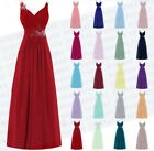 Long Chiffon Wedding Evening Formal  Ball Party Gown Prom Bridesmaid Dresses6-24