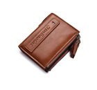 Men Leather High Capacity Retro Wallet Credit Card Coin ID Zipper Holder Purse