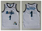 2019 TRACY McGRADY #1 Orlando Magic White Blue Striped Throwback Jersey on eBay