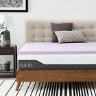 Lucid 3 Inch Lavender Infused Memory Foam Mattress  Assorted Colors , Sizes  image