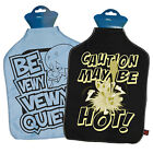 Retro Hot Water Bottle Covers. Cosy Warm Heat Therapy Novelty Bedtime Gift