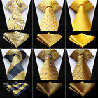 Classic  20 Style Gold Yellow Men's Silk Neck Tie Pocket Square Set Fashion Ties $10.6 CAD on eBay