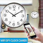 1080P HD Wifi Spy Hidden Camera Hang Wall Clock Digital Realtime Record Cam DVR