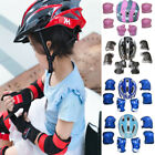 US Kids Boy Girl Safety Helmet Knee Elbow Pad Sets For Cycling Skate Bike