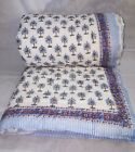New Indian Palm tree quilt hand block print jaipuri razai Twin size Quilt Lot image