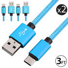 2-PACK Type C Nylon Braided Fast Charging Cable For Samsung Galaxy S9+ S8 Note 9