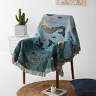 Mermaid Fringed Blanket Cotton Tapestry Chair Sofa Settee Bed Throws Home Modern